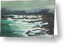 Waves In The Cove Greeting Card
