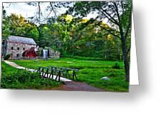Wayside Inn Grist Mill Greeting Card