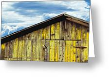 Weathered Wooden Barn, Gaviota, Santa Greeting Card