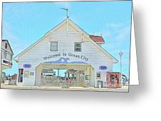 Welcome To Ocean City Greeting Card