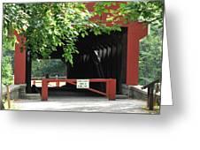 Wertz Red Covered Bridge Greeting Card