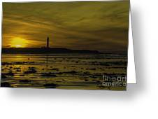 West Beach Sunset Greeting Card