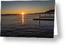 West Seattle Sunrise Greeting Card