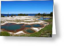 West Thumb Geyser Basin In Yellowstone National Park Greeting Card