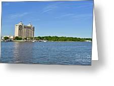 Westin Hotel On The Savannah Waterfront Greeting Card