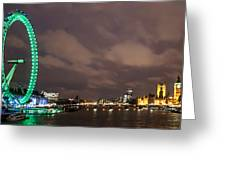 Westminster And The London Eye Greeting Card