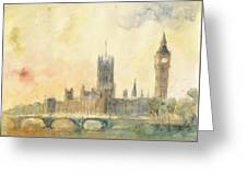 Westminster Palace And Big Ben London Greeting Card
