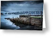 Wharf In Norris Point, Newfoundland Greeting Card