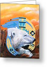 White Bear Goes Southwest Greeting Card