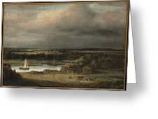 Wide River Landscape Greeting Card