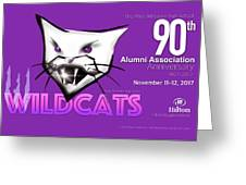 Wildcat 90th Anniversary Test Card Greeting Card
