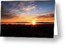 Willard Bay Sunset Greeting Card