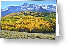 Wilson Mesa And Mt. Wilson Greeting Card