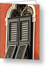 Window In Venice Greeting Card