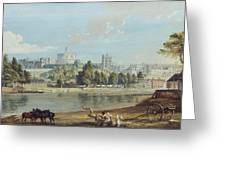 Windsor Castle From The Eton Shore Greeting Card