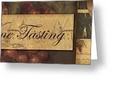 Wine Tasting Collage  Greeting Card