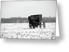 Winter Buggy Greeting Card