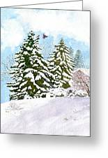 Winter Delight Greeting Card