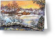 Winter Evening. Greeting Card