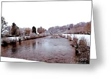 Winter In England  Greeting Card