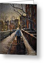 Winter In The City Greeting Card