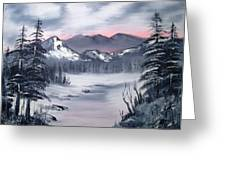 Winter In Three Colors Greeting Card