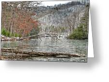 Winter Landscape At Hungry Mother State Park Greeting Card