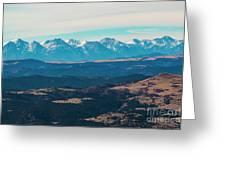 Winter Sangre De Cristo Mountains Greeting Card