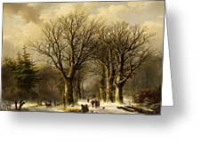 Winter Scene In Reichswald Greeting Card
