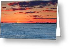 Winter Sun Has Set Greeting Card