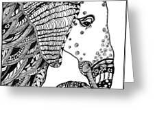 Wise Elephant Greeting Card by Barbara McConoughey