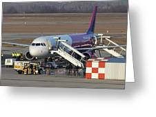 Wizz Air Jet And Fire Brigade   Greeting Card