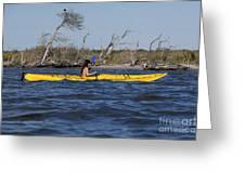 Woman Kayaking Greeting Card