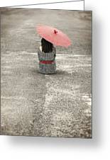 Woman On The Street Greeting Card by Joana Kruse
