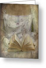 Woman With A Book Greeting Card by Joana Kruse