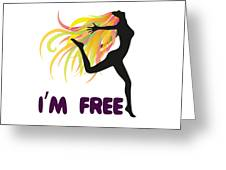 Womens Clothluxe Democracy Freedom Tee Shirt Gift Greeting Card