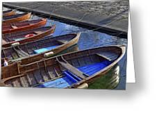 Wooden Boats Greeting Card by Joana Kruse