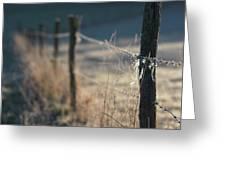 Wooden Posts Greeting Card by Bernard Jaubert