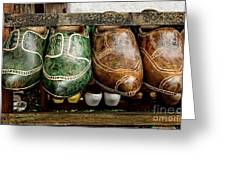 Wooden Shoes Greeting Card