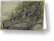 Woodland Boulders Greeting Card