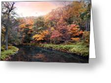 Woodland River Greeting Card