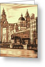 World Famous Three Graces Greeting Card
