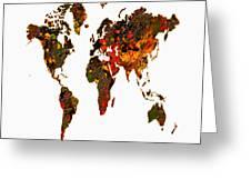 World Map 2b Greeting Card