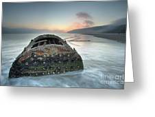Wreck Of Laura - Filey Bay - North Yorkshire Greeting Card