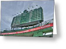 Wrigley Scoreboard Greeting Card by David Bearden