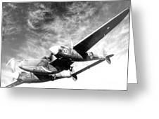 Wwii, Lockheed P-38 Lightning, 1940s Greeting Card