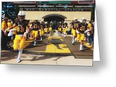 Wyoming Cowboys Entering The Field Greeting Card