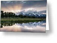 Wyoming Sunset Greeting Card