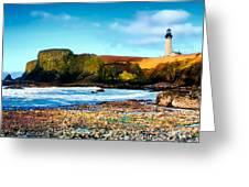 Yaquina Bay Lighthouse II Greeting Card