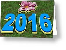 Year 2016 Greeting Card
